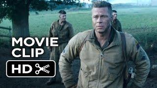 Fury Movie CLIP - Hold This Crossroad (2014) - Brad Pitt War Drama Movie HD