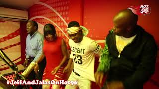 Kush Tracey and Wynas dancing to their latest song Kelebe with Jeff and Jalas