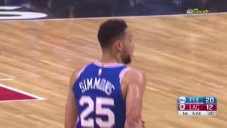 Ben Simmons dunk a thon