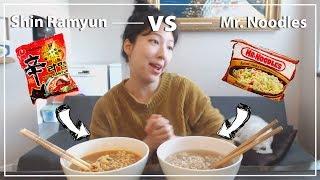 Shin Ramyun -- VS -- Mr. Noodles