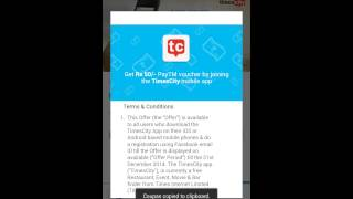 Get 50 Rupees free talktime with timescity.