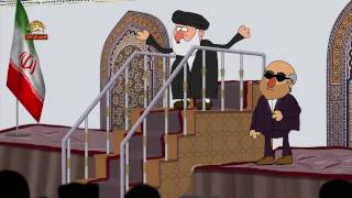انیمیشن خنده دار علم الهدی و بلایای طبیعی در آستانه انتخابات - روحانی خامنه ای رئیسی احمدی نژاد