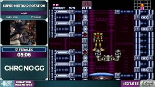 Super Metroid Rotation by feral5x in 44:33 - Awesome Games Done Quick 2017 - Part 57