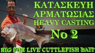 ΑΡΜΑΤΩΣΙΑ HEAVY CASTING ΓΙΑ ΖΩΝΤΑΝΉ ΣΟΥΠΙΑ No 2 !!! RIG FOR LIVE CUTTLEFISH!!!