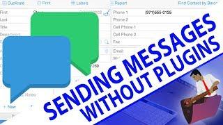 Sending SMS Messages From FileMaker Pro No Plugins | FileMaker Videos
