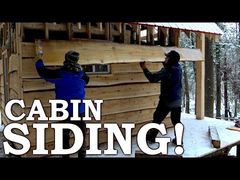 BUILDING Cabin from SCRATCH with SAWMILL 80 YEAR OLD TREE into SIDING Ep9