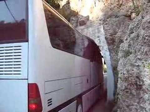 alanya kalesi'ne giderken tünelden geçiş