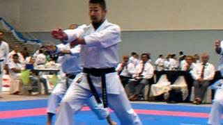 Team kata men's Japan Kanku-dai semi-final .3gp