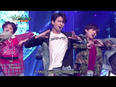 BTS (방탄소년단) - FAKE LOVE [Music Bank HOT STAGE  2018.06.08]