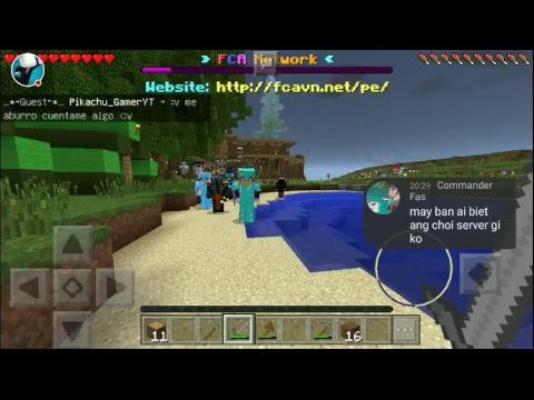 CHƠI SKYWAR TRONG SEVER FCA | Minecraft PE 1.0.5