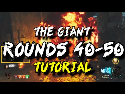 'The Giant' Rounds 40-50 Gameplay/Tutorial! (Black Ops 3 Zombies)