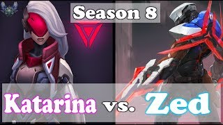 Katarina vs Zed | Season 8 - Diamond Tier Katarina Gameplay [my first Commentary] - Lunacy