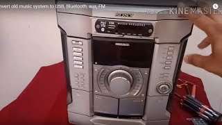 Convert Old Music System To USB, Bluetooth, Aux, FM