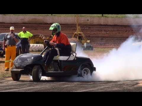 HAYABUSA POWERED GOLF BUGGY AT DUBBO BURNOUTS 21.9.2013