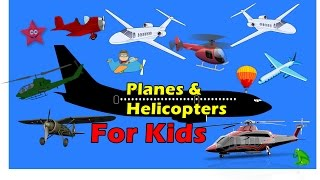 Planes & Helicopter Flying for Kids Cartoons with Action