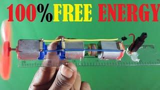Free energy 100% , Free energy self running machine , science school project