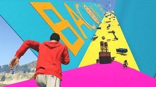 16 PLAYER AVALANCHE DEATH RUN!  - GTA 5 Funny Moments #696