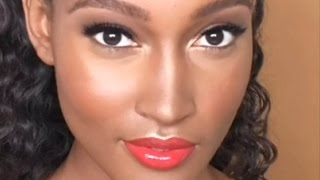 Anastasia of Beverly Hills Inspired Dark Skin Everyday Makeup Tutorial  ft Deep Cream Contour Kit