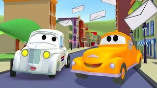 Tom The Tow Truck and PETER the POST CAR in Car City | Cars & Trucks construction cartoon children