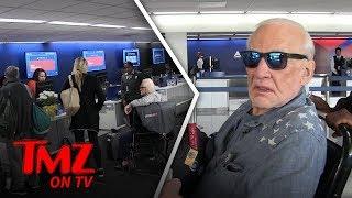 Buzz Aldrin - Airport Meltdown! | TMZ TV