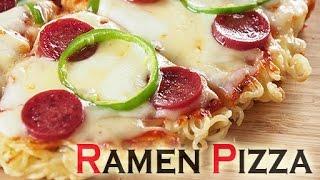 How to Make Ramen Pizza ラーメンピザを作りました!RECIPE
