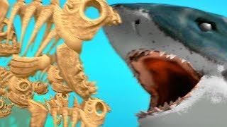 SKELETON FISH FAMILY vs SHARKS - Feed and Grow Fish - Part 87   Pungence