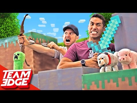 Minecraft Battle In Real Life