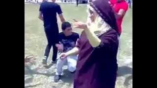 رقص في كلية حقوق جامعة المنصوره