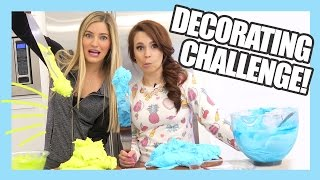 Cake Decorating Challenge with Ro | Nerdy Nummies | iJustine