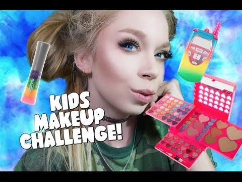 FULL FACE USING ONLY KIDS MAKEUP Challenge Grav3yardgirl