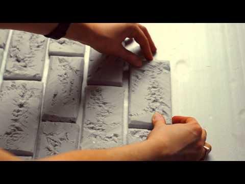 мастер-класс : кирпичная стена из пенопласта, фотофон DIY brick wall of foam - ayoutube - Open Youtube For Free