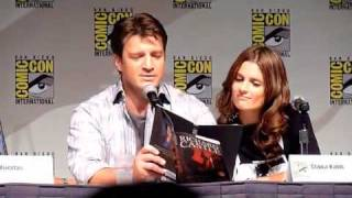 Comic-Con 2010 - Castle Panel - Nathan Fillion Reads a page of a Rick Castle Book