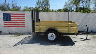 Liberty Industries Utility Trailer with Removable Wood Sides