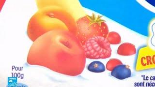 مواد مشتقة من الخنزير والحشرات والبقر في منتجات الحليب والحلويات بفرنسا!!