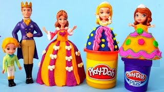 Play Doh Design a dress for Disney Sofia The First - Sofia and Royal Family play set Play dough