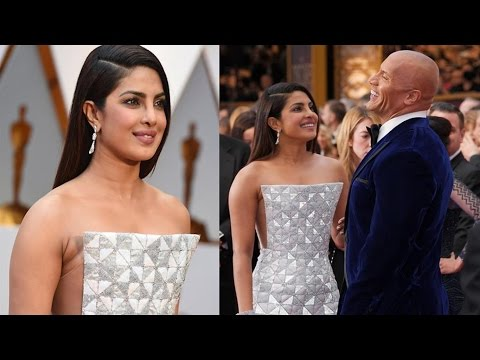 Priyanka Chopra on the red carpet! Oscars 2017! Oscars 2017 Best Dressed Stars!!
