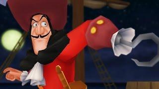 Kingdom Hearts: Captain Hook Boss Fight (PS3 1080p)