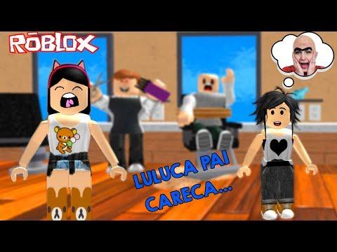 Roblox FUGINDO DO CABELEIREIRO MALUCO Escape the Evil Barber Luluca Games