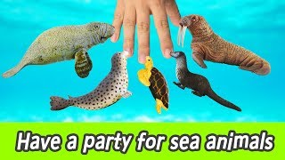 [EN] Let's have a party for sea animals!! kids English education, collecta figureㅣCoCosToy