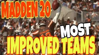 TOP 10 MOST IMPROVED MADDEN 20 TEAMS FOR CFM AND ONLINE GAMEPLAY! MADDEN TIPS AND TRICKS