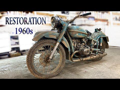 Восста� овле� ие старого мотоцикла из 1960 х Old Soviet motorcycle full Restoration