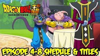 Dragon Ball Super Episode 4-8 Schedule & Titles: Battle of Gods Saga Blueprint