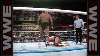 Bad News Brown debuts in WWE: Prime Time Wrestling, February 1, 1988