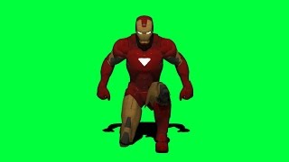 Free Green Screen Stock Footage Iron Man Landing: Captain America Civil War