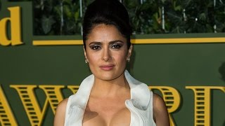 Salma Hayek Accidentally Rocks a Sexy Cleavage Shirt to the Emergency Room -- See the Hilarious P…