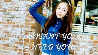 Kara Goo Hara I Love You, I Want You, I Need You CITY HUNTER OST - Sweet Acousitc Version