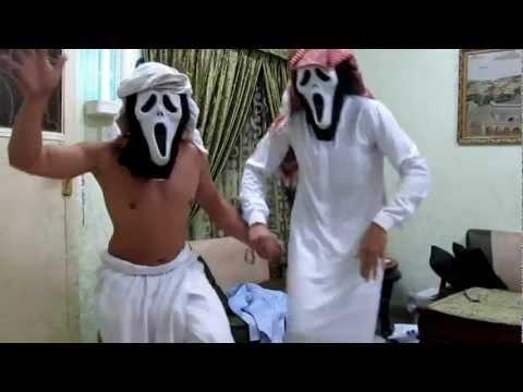 funny scream arab dancing
