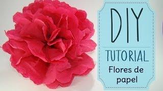 [DIY] Tutorial - Como hacer flores de papel Crepe o China || Kaele ☁