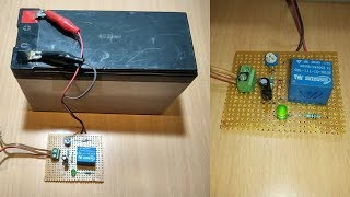 how to make simple 12v automatic battery charger at home