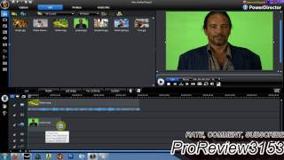 How To Apply Chroma Key In Cyberlink Powerdirector 8 or 9